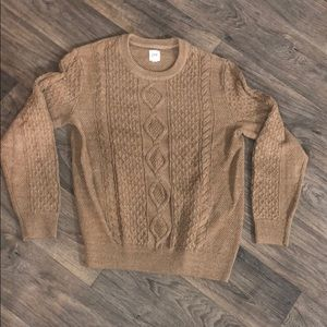 Gap Tan Cable Knit Sweater